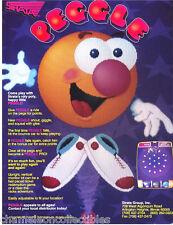 Strata PEGGLE 1991 Original NOS Video Arcade Game Machine Promo Sales Flyer