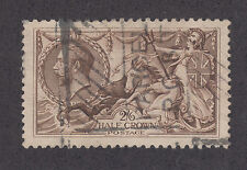 Great Britain Sc 179 used. 1919 2sh6p retouched Seahorses, Vf
