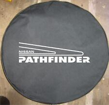 SpareCover® Brawny Series - Nissan Pathfinder Tire Cover Heavy Black denim Vinyl
