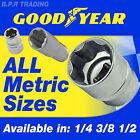 METRIC HEX SOCKETS 1/4 3/8 1/2 SQUARE DRIVE GOODYEAR SET SIZES STANDARD & DEEP