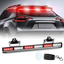 LED Emergency Strobe Light Bar Warning Flash Red Traffic Advisor Wireless Remote