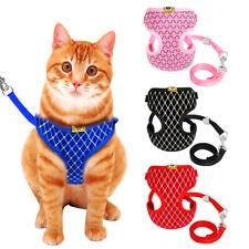 Cat Walking Jacket Fancy Kitten Harness & Lead Set Breathable Puppy Pet Dog Vest