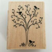 Inkadinkado Rubber Stamp Birds in Tree Card Making Crafting Art Nature 98414