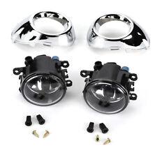 Bumper Lamp Fog Lights Driving Lights & Chrome Cover Bezel for Ford Focus 12-14