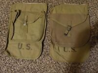Unissued mint M1928 WWII haversack meatcan pouch with pack flap