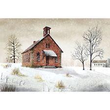 Billy Jacobs Snow Day Church Art Print 18 x 12