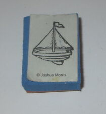 "Sailboat Rubber Stamp Foam Mounted Boat Joshua Morris 1.25"" High"