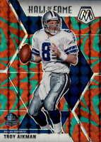 2020 Panini Mosaic Mosaic Reactive Green #290 TROY AIKMAN Hall of Fame Cowboys