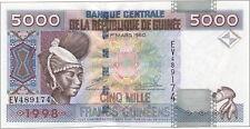 Guinea 5000 Francs 1998 Pick 38 (1)