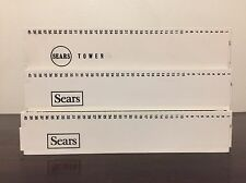 Lot Of 3 Vintage 1960s Sears Straight Slide Trays White 40 Capacity Each 60s