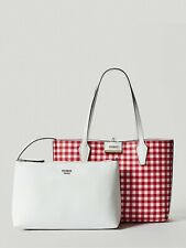 GUESS Reversible 2-in-1 White & Red Large Handbag & Clutch Bag New With Tag