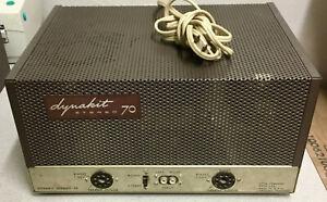 Dynaco Dynakit Stereo ST-70 Tube Amp Amplifier Tech Serviced