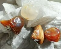 tumbling RUSSIAN CARNELIAN natural stone (20-30 g / 0.7 - 1.06 oz)