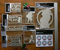 CHIPBOARD - CHRISTMAS, SANTA, HOLLY Features etc 8 Design Choice - Fab Scraps CW