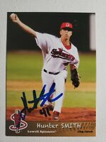 2016 Grandstand Hunter Smith Autograph Card Red Sox Lowell Spinners, Auto