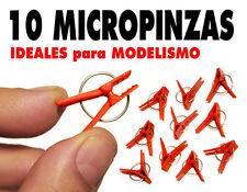 10 Micro Pinzas modelismo y bricolaje. 25 mm. NUEVAS !!