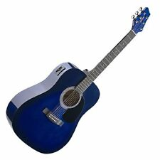 Electro-acoustique Dreadnought Western Guitare Stagg Blueburst avec