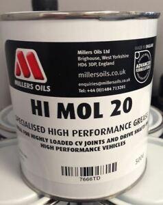 Millers Oils Hi-Mol 20 Motorsport Graisse 500g - Parfait Pour Cv Joints Etc