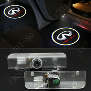 2pcs White Car Laser LED Door Logo Ghost Shadow Lights HD For Infiniti QX60 JX35