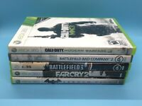 Xbox 360 5 Games Lot Battlefield 2 & 3, Call Of Duty MW3, Etc. Free Shipping!