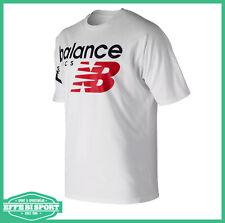 T shirt uomo girocollo New Balance maglia donna manica corta mezza manica bianca