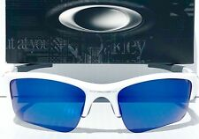 NEW Oakley FLAK JACKET WHITE w BLUE ICE IRIDIUM XLJ Lens Sunglass 9009 24-373