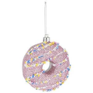 Pink DOUGHNUT Christmas Tree Bauble Ornament Cupcakes Baking Home Decoration