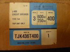 General Electric TJK436T400 Type TJK 3P Trip Unit 600V 400A Adjustable Mag.