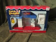 Vintage Fisher Price Little People Gas Station New Box Car Boy 1989 Toy Set 2455