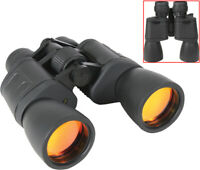 Black 8-24 x 50mm Zoom Military Binoculars Full Size Prism with Case & Strap