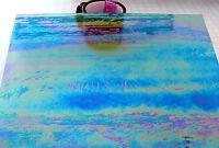 ROYAL BLUE LUMINESCENT Wissmach Transparent 96 COE Fusing Glass STUNNING!