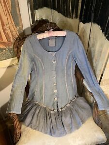 Out  Of Xile Silk/linen/cotton Flared  Jacket. 38bx39lgth