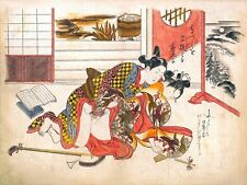 Repro Japanese Woodblock 'Shunga Style' Print - #016