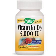NATURES WAY - Vitamin D 5000 IU - 240 Softgels