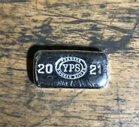 """1oz Hand Poured 999 Silver Bullion Bar """"2021"""" by Yeager's Poured Silver -  YPS"""