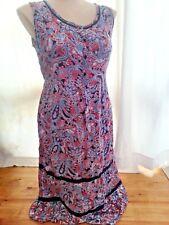 Ink Red Paisley romantic boho peasant summer sundress DRESS size 16 NEW