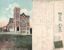 CHARLEROI PA WASHINGTON AVENUE PRESBYTERIAN CHURCH ANTIQUE POSTCARD