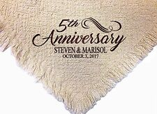 Personalized Embroidered Anniversary Throw Blanket ~  Anniversary Throw  ~