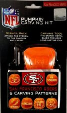 San Francisco 49ers NFL sports pumpkin carving kit 6 patterns NEW sealed package