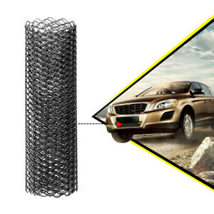 """Black Universal Aluminum Car Vehicle Grille Net Mesh Grill Section 40"""" x 13"""" New"""