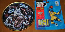 RARE SHAQUILLE O'NEAL SPORTS IMPRESSIONS SIG GOLD PLATE & FREE LSU ACTION FIGURE