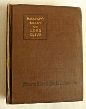MACAULAY'S ESSAY ON LORD CLIVE  1915