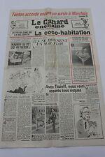 CABU - JOURNAL ANNIVERSAIRE LE CANARD ENCHAINE ACTU SATIRIQUE DU 18 AVRIL 1984