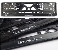 2PCS Mercedes-Benz FRAME EURO for LICENSE PLATE PLATES Mercedes-Benz Logo NEW