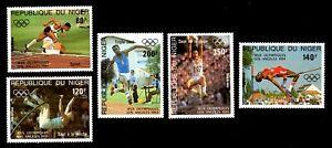 Olympic Niger 1984 set of stamps Mi#876-80 MNH CV=9€