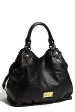 MARC JACOBS Classic Q Francesca Large Black Leather Shopper Tote