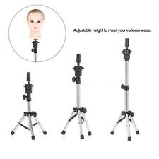 Adjustable Hairdressing Tripod Hair Training Mannequin Holder Wig Stand Y7Z5