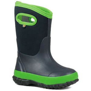 Bogs Kids' Boots Classic Matte Winter, Navy/Green, Size 3 (72328-411-030)