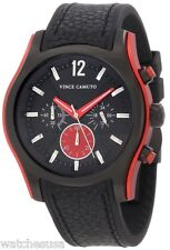 Vince Camuto Men's VC/1008RDBK The Cruiser Black Ion-Plated Red Aluminum Watch