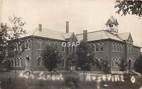 Ohio Postcard Real Photo RPPC 1909 ROSEVILLE High School Building